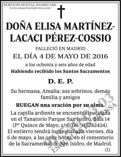 Elisa Martínez Lacaci Pérez-Cossio